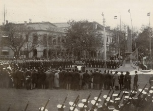 Unveiling of the memorial, 21 November 1898