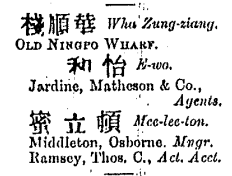 Desk Hong List, 1884, Shanghai and Northern Ports, Shanghai section