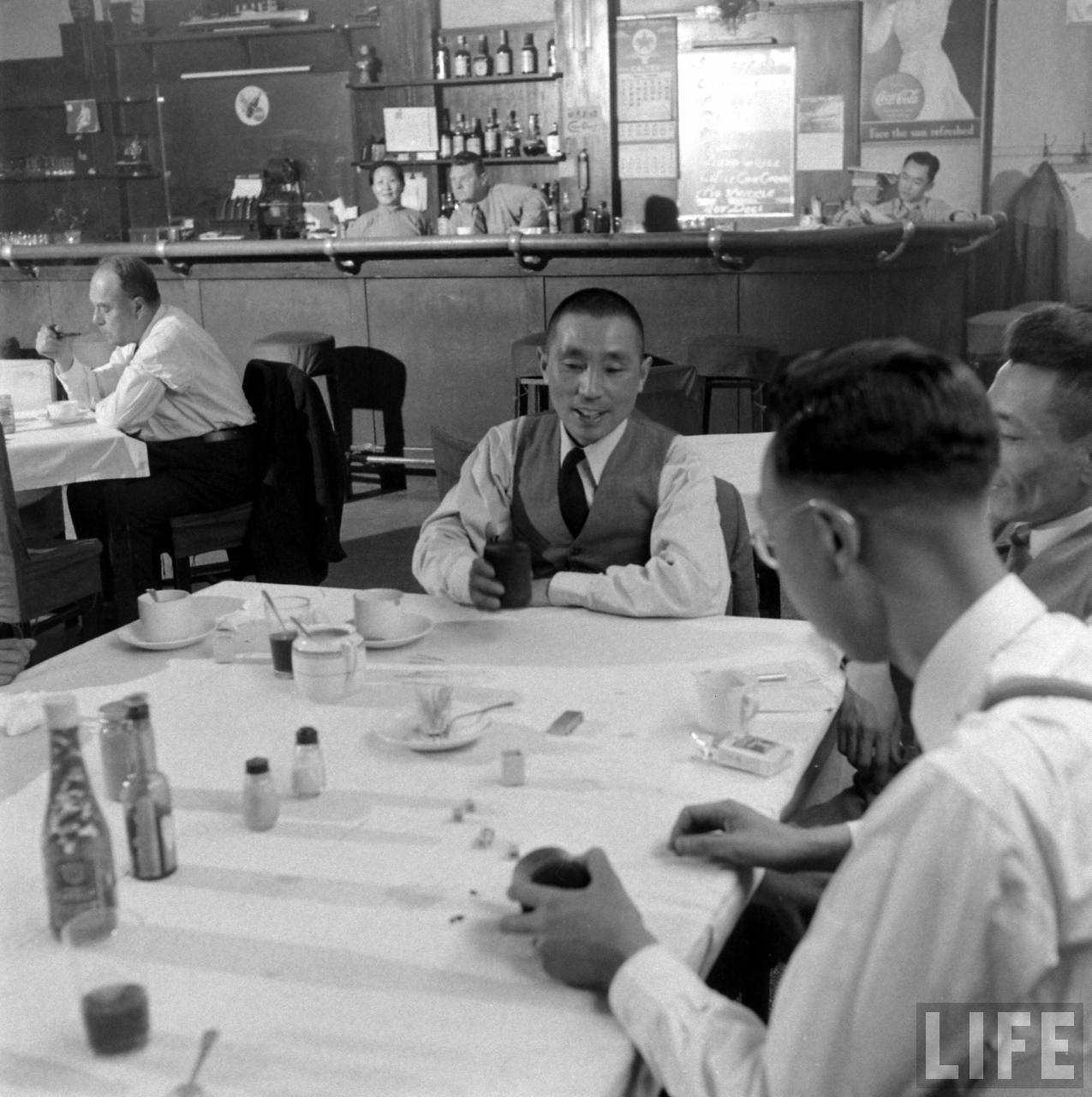 New Ritz Bar, May 1949, by Jack Birns, © Time Inc.